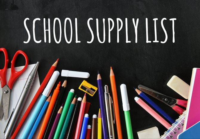 School Supply List SY 2019-2020