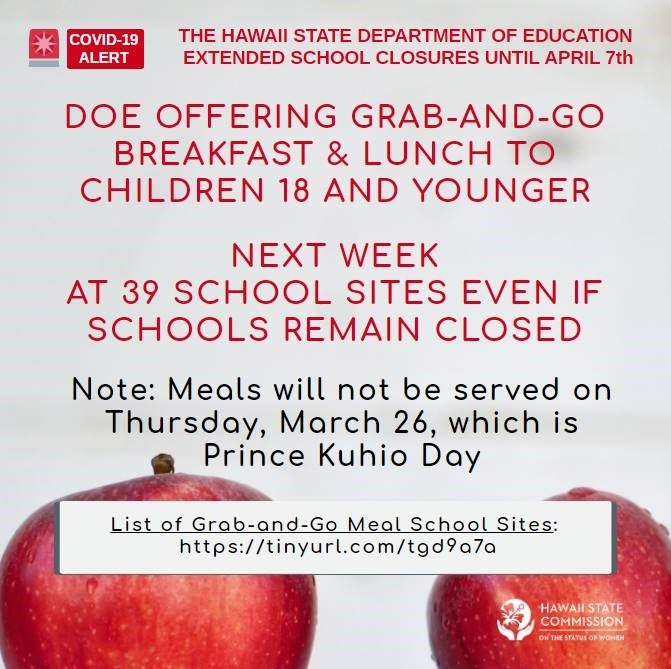DOE OFFERING BREAKFAST AND LUNCH TO STUDENTS